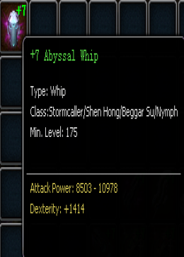 +7 Abyssal Whip