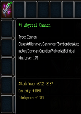 +7 Abyssal Cannon