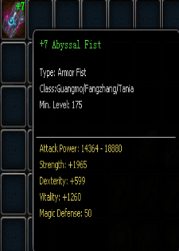 +7 Abyssal Fist