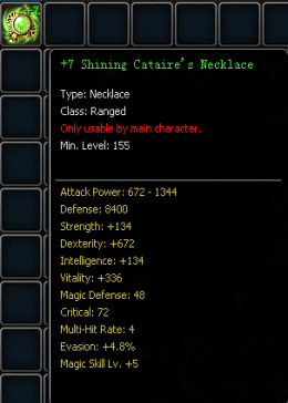 +7 Shining Cataire's Necklace