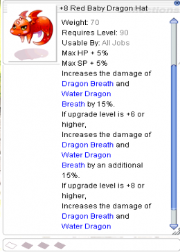 +8 Red Baby Dragon Hat